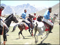 Polo playing at the Shandur festival