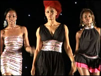Contestants at the Miss Black Britain '07 competition