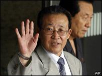 North Korea's Kim Kye-gwan arrives in Beijing 17 July 2007