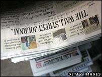 Wall Street Journal on newspaper stand