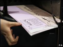 Ballot papers, May 2007