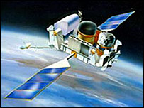 Nasa satellite (Artists impression) Compton Gamma Ray Observatory