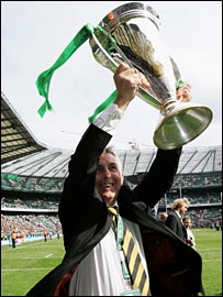 Ian McGeechan with the Heineken Cup