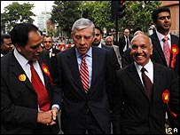 Jack Straw on the campaign trail in Ealing