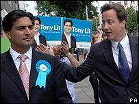 Tony Lit and David Cameron
