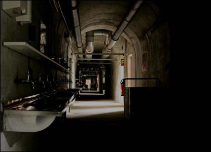 Inside a nuclear fallout shelter in Switzerland