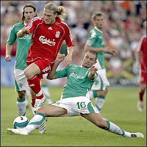 Voronin hurdles a tackle