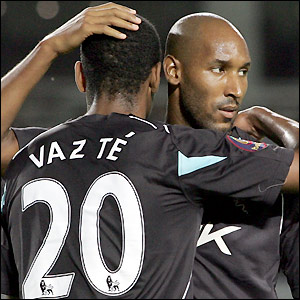 Anelka celebrates one of his goals
