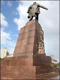 Пямятник Ленину на главной площади Харькова