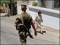 French Unifil peacekeeper and resident of Ayn Ebl, south Lebanon