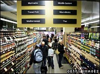 Shoppers in Whole Foods Market store