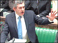 Prime Minister Gordon Brown at a previous question time