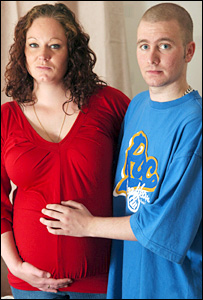 Joanna Stanley and Mike Emms, her partner's son