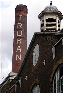 Chimney of the old Truman brewery in Brick Lane