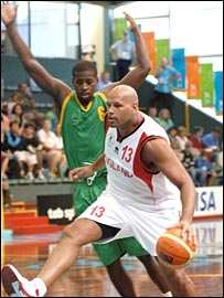 John Amaechi in action for England