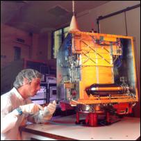 DMC satellite, AlSAT-1, under manufacture at SSTL