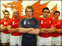 Wales' squad model their World Cup kit