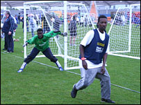 Young People FC in action