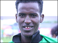 Young People keeper Abdihamid poses for the camera