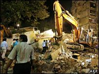 The building in Mumbai's Borivali area which collapsed