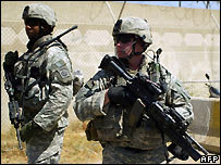 US soldiers on patrol in Baghdad - 17/07/2007