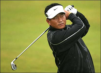 KJ Choi during the first round at Carnoustie