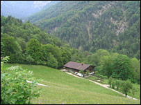 View of chalet in Kaisertal valley