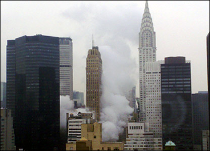 NY steam explosion, an overview. Photo sent in by Richard Hurring.