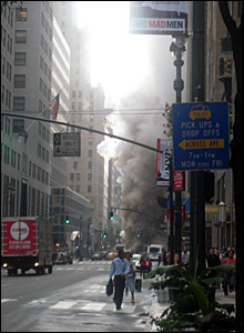 NY steam explosion, street view. Photo sent in by Rachel Clarke