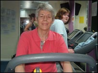 Cherry Protheroe in the gym