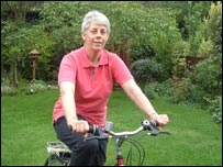 Cherry Protheroe on her bike