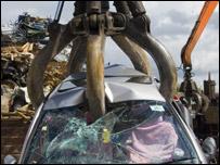 Seized car