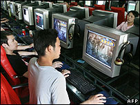 Internet users in Beijing (file photo)