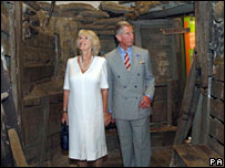 Charles and Camilla at the museum