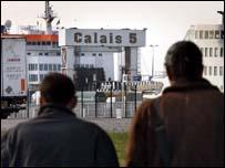 Generic - two asylum seekers in Calais
