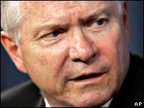 US Defence Secretary Robert Gates (file image from 29/06/2007)