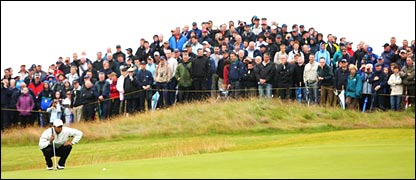 Tiger Woods is always a big draw at the Open