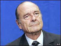 Former French President Jacques Chirac. File photo