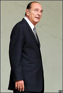 Jacques Chirac, en mayo de 2007, aún como presidente de Francia. Foto de archivo