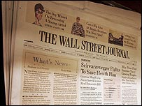 A copy of the Wall Street Journal
