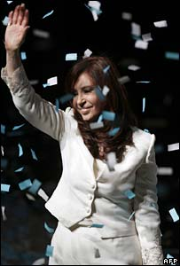 Cristina Fernandez de Kirchner in La Plata on 19 July 2007