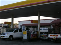 Petrol station in South Africa