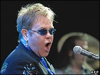 Sir Elton John, who changed his name for professional reasons