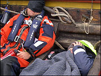 Crew members trying to sleep (Image: BBC)