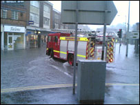 Flooding in Uckfield