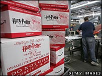 Boxes containing new Harry Potter book