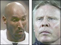 Nicolas Anelka and Sammy Lee