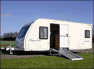 Photo of a Fry's wheelchair accessible caravan