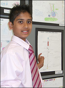 Photo of Shaan Patel with his winning entry