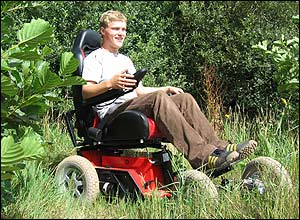 Photo of the Fieldmaster 4 x 4  wheelchair